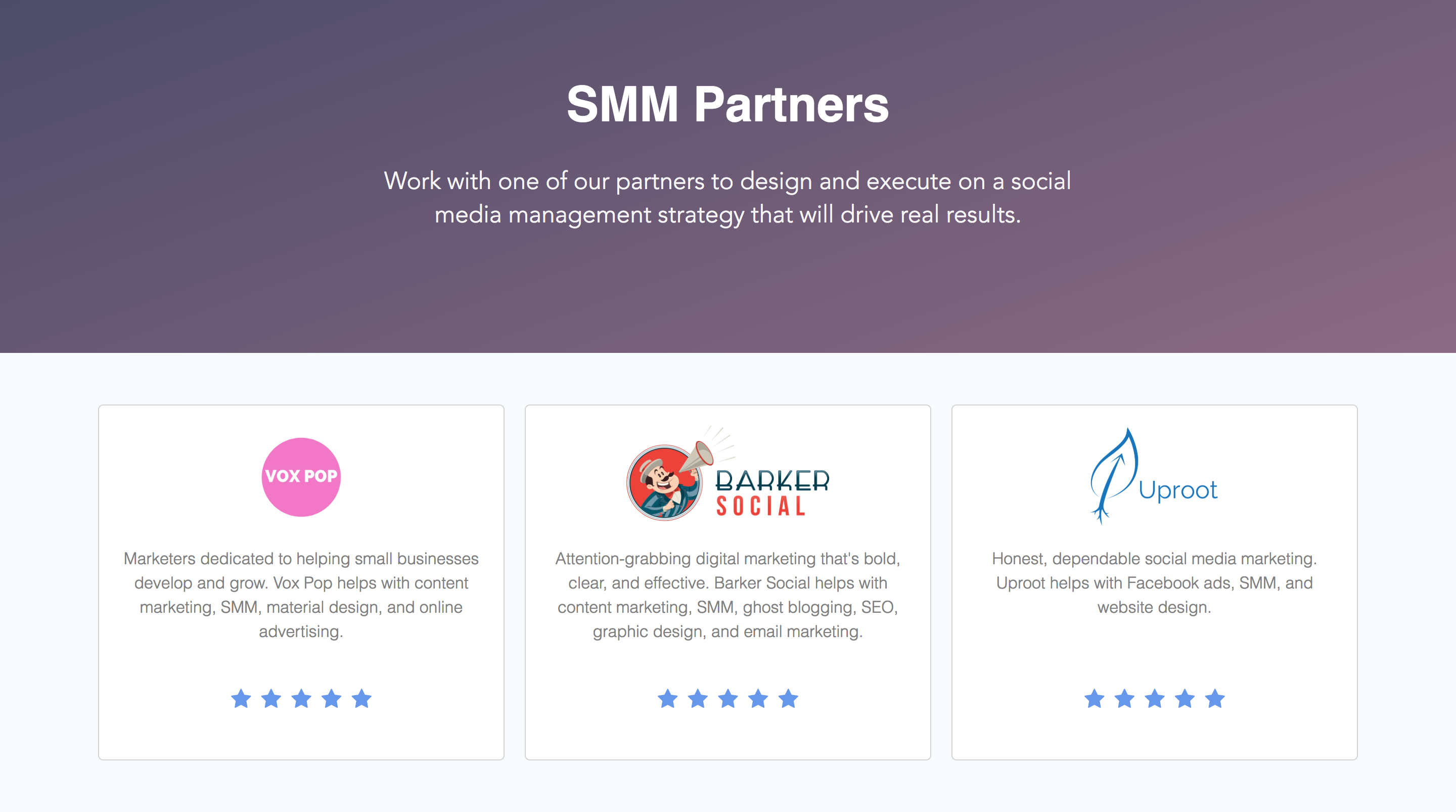 Trusted Social Media Management Partners